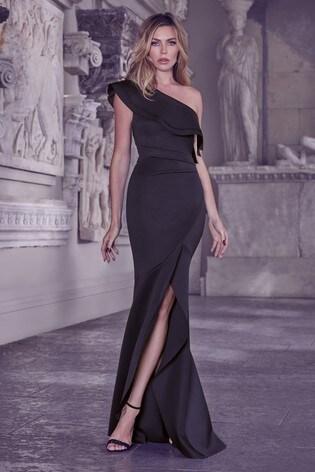 fashion innovative design many fashionable Buy Abbey Clancy x Lipsy One Shoulder Ruffle Maxi Dress from the ...