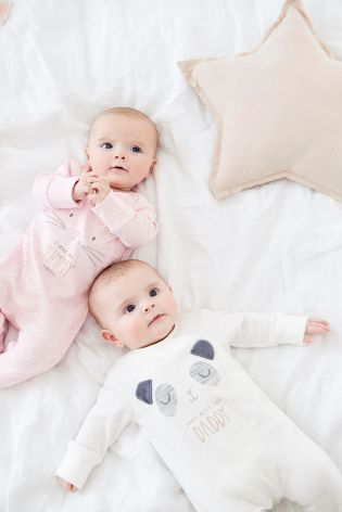 852d35c30 Pink/Ecru Character Mummy And Daddy Sleepsuits Two Pack (0mths-2yrs) ...
