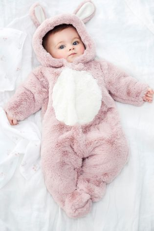 2c54eb1c052f6 Buy Pink Bunny Pramsuit (0mths-2yrs) from Next USA