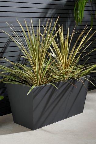 Buy Zinc Garden Trough Planter from the Next UK online shop Zinc Garden Planters Uk on zinc garden statues, zinc planter boackround on white, zinc bowls, zinc window boxes, zinc furniture,