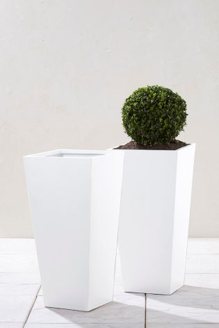 Buy Set of 2 Zinc Planters from Next Germany