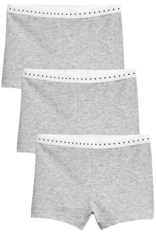 b8e1e7b47 Buy Grey Modesty Shorts Three Pack (2-16yrs) from Next New Zealand