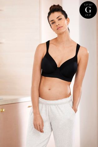 Buy Black High Impact Full Cup Underwired Sports Bra from Next ... 9130d88a2c3
