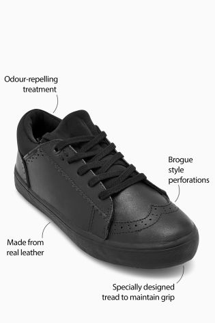 8a303d459 Buy Black Lace-Up Leather Brogues (Older) from Next Hong Kong