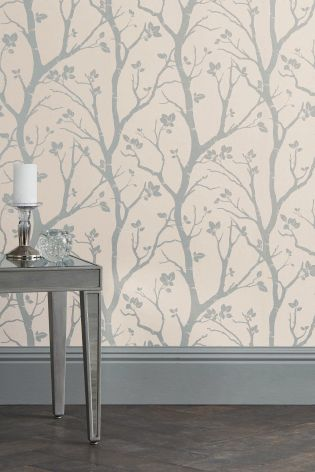 buy paste the wall silver woods wallpaper from the next uk online shop