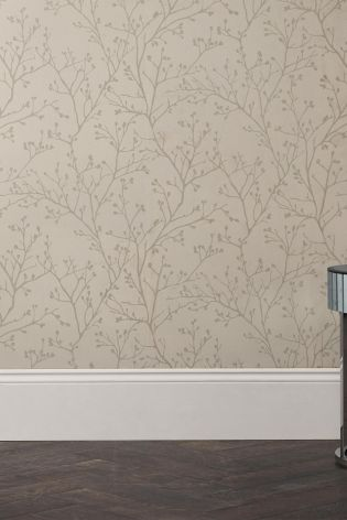 Paste The Wall Metallic Sprig Wallpaper
