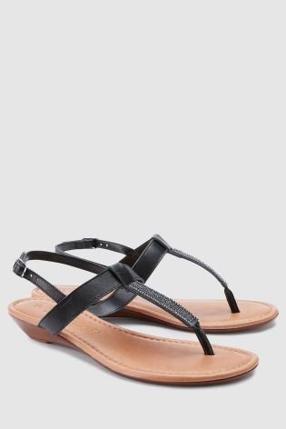 af83476863f8 Buy Black Forever Comfort Mini Wedge Sandals from Next Slovakia