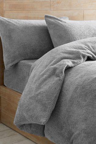 Lovely Grey Super Soft Fleece Bed Set
