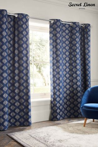 Buy Secret Linen Store Pinecones Eyelet Curtains from the Next UK ...