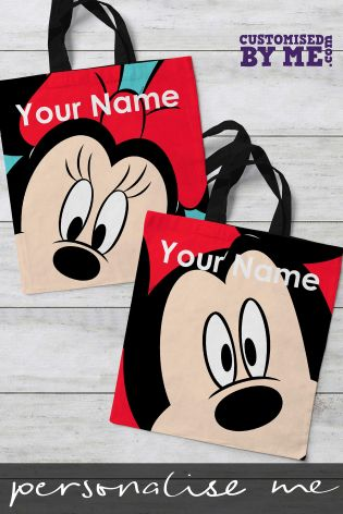 buy personalised mickey mouse tote bag by customised by me from the