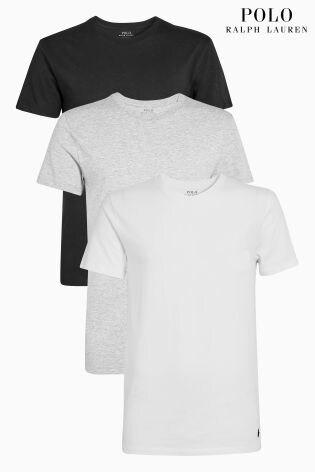 Buy Polo Ralph Lauren Black Grey White T Shirt 3 Pack From Next Malta