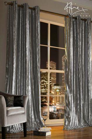 Silver Kylie Iliana Eyelet Curtains