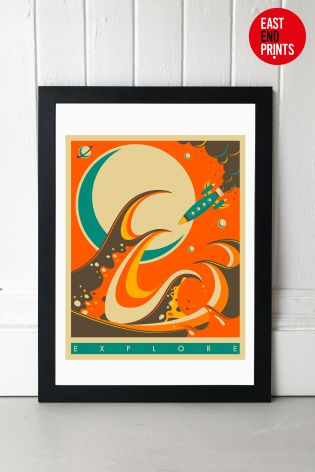 Buy Explore by Jazzberry Blue Framed Print from the Next UK online shop