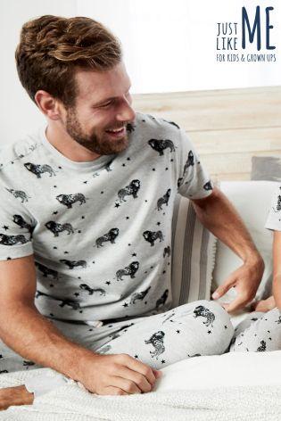 ecde31f04 Buy Grey Mens Animal Pyjamas from Next Slovakia