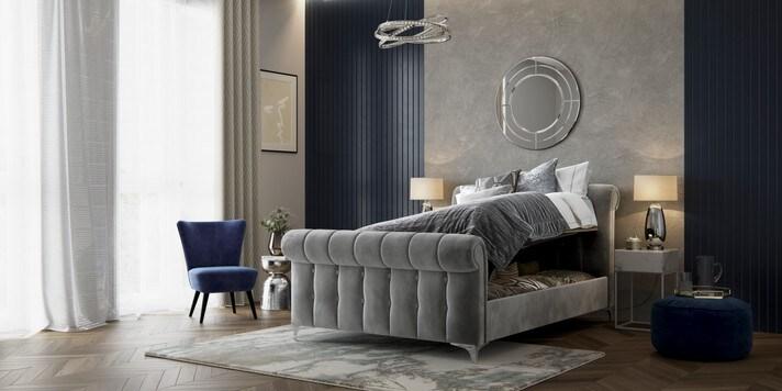 Hargrave Sleigh  Ottoman Storage Bed