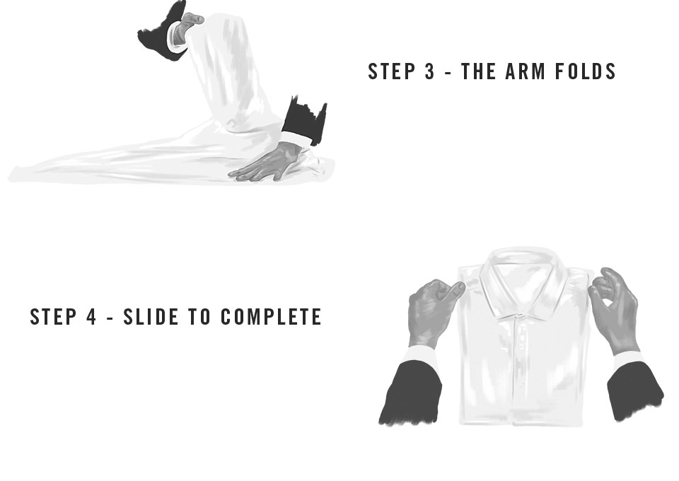 Steps to fold a shirt