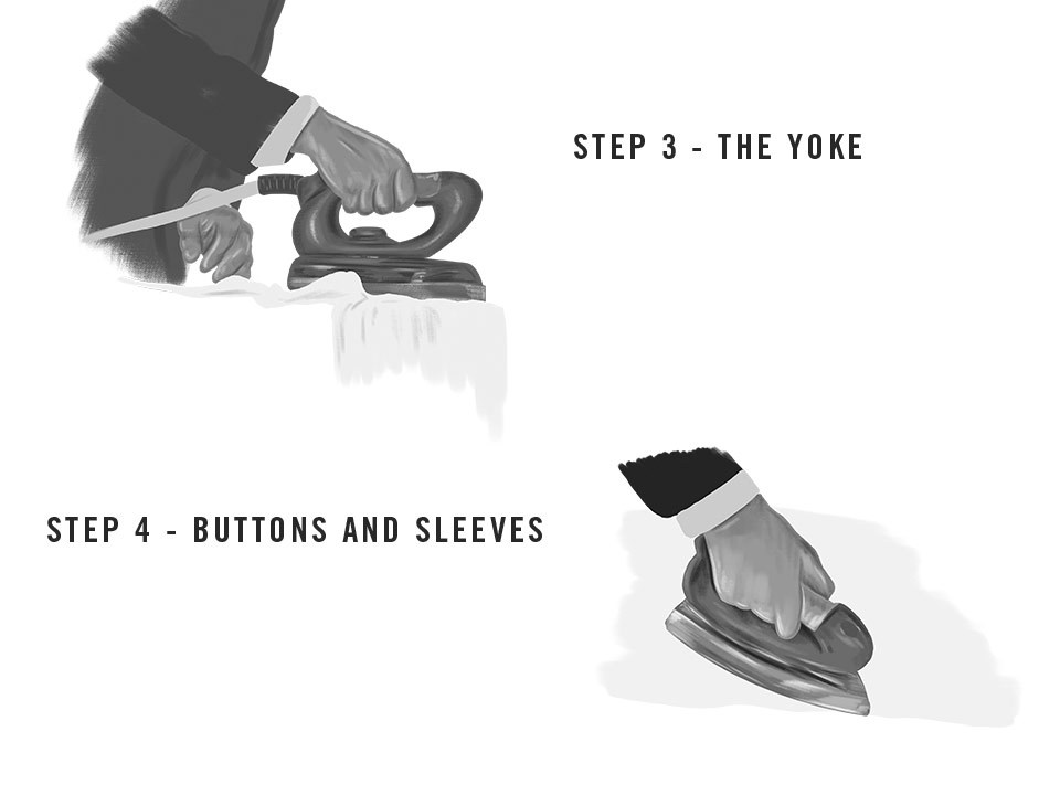 Steps to iron a shirt