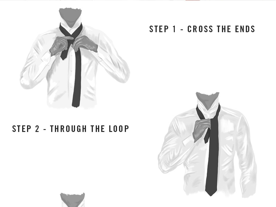 Steps to tie a windsor knot