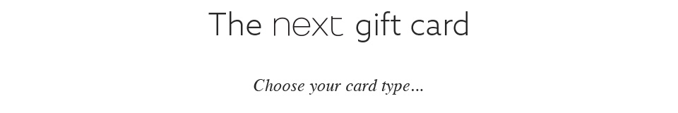 The next gift card