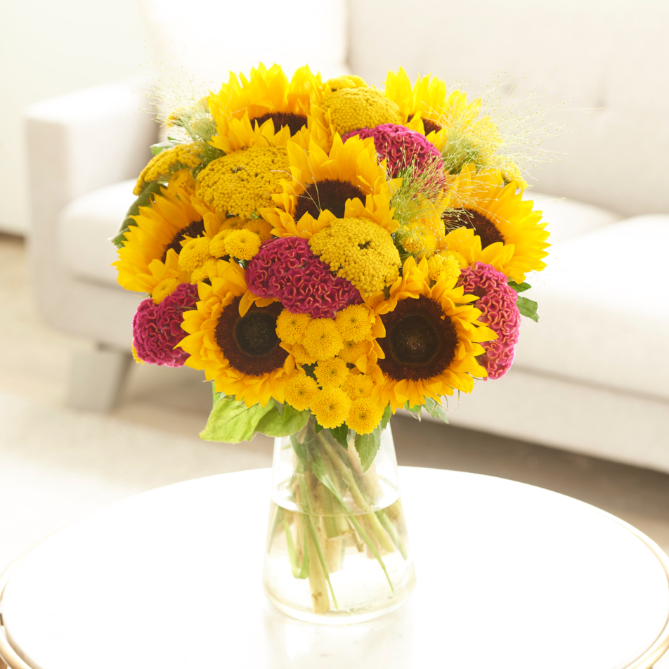 Sunflower and Celosia Bouquet Large