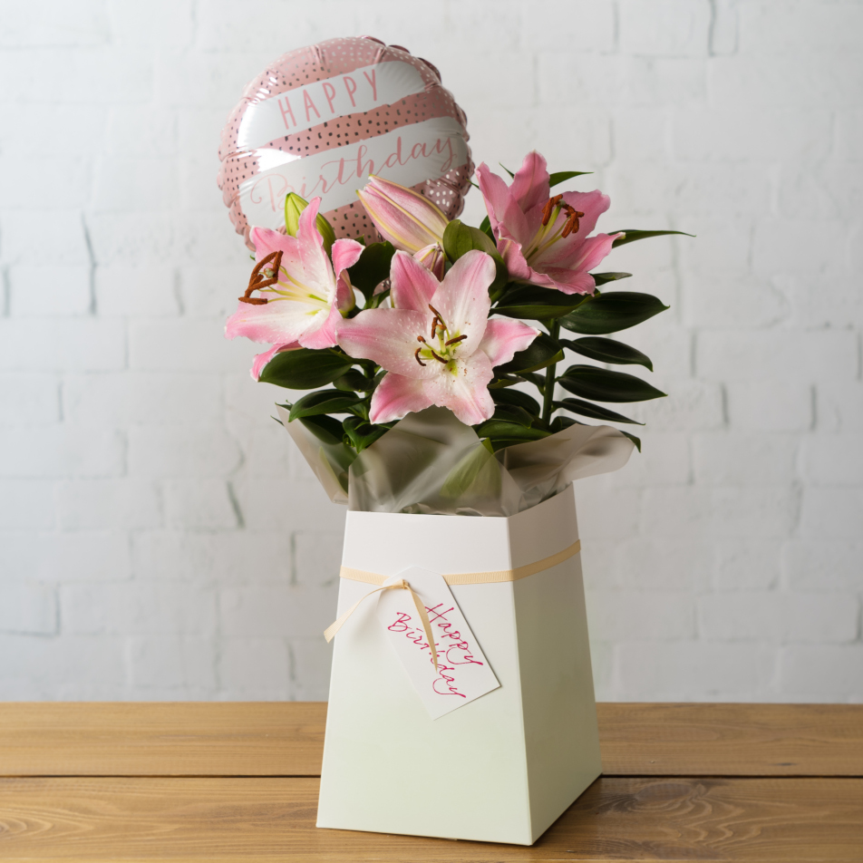 Next Flowers And Gift Cards Delivered Next Day Oriental Lily Birthday Gift