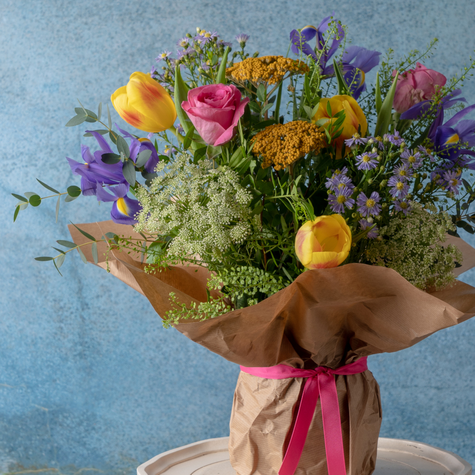 Gift Wrapped Vase with Chocs