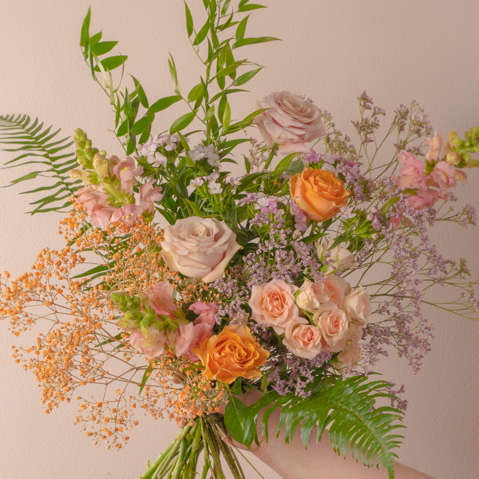 Peach Whisper Bouquet with Chocs