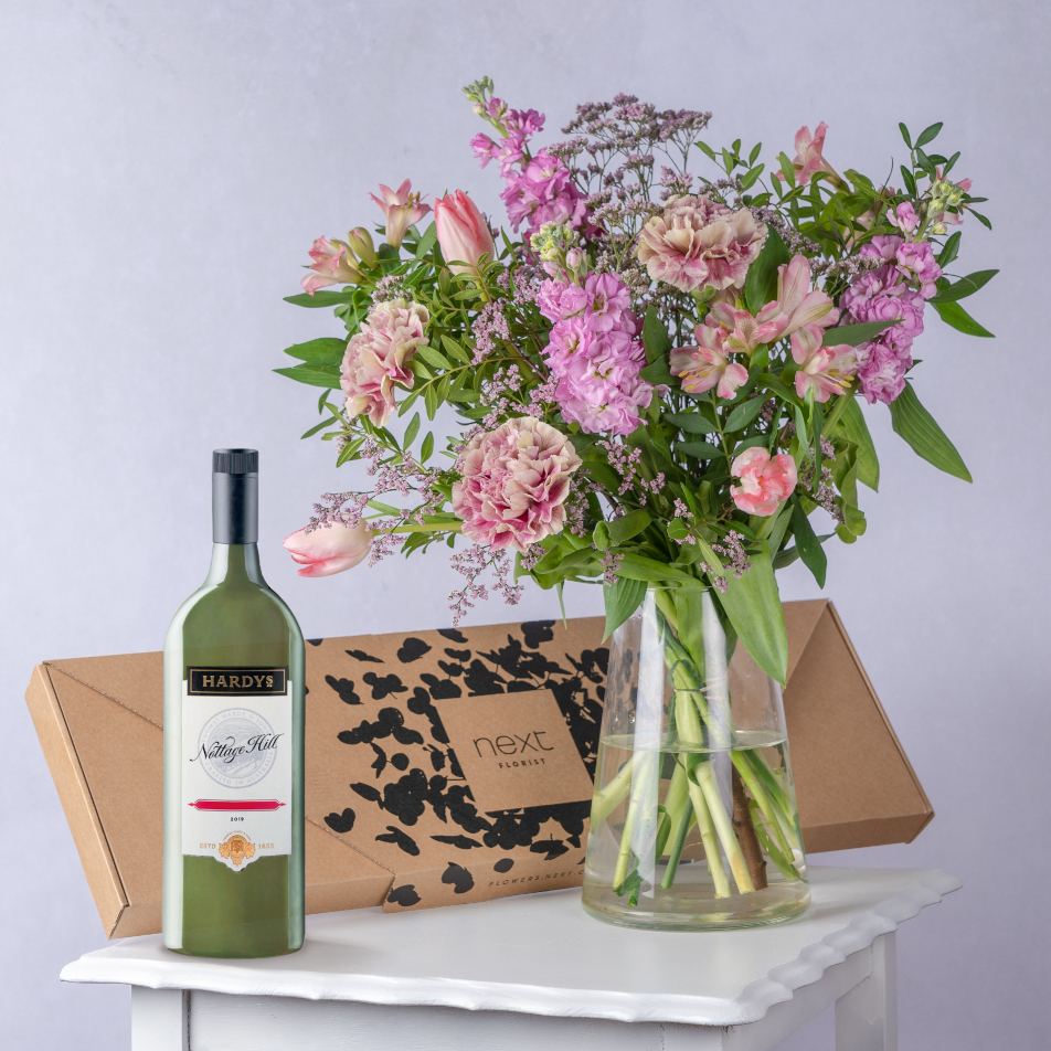 Blush Letterbox with Hardys White Letterbox Wine