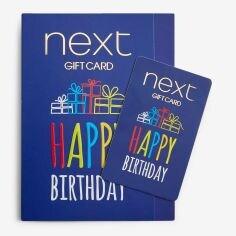 Happy Birthday Blue Gift Card