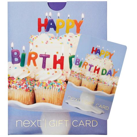 Happy Birthday Cake Gift Card